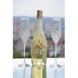 Комплект ритуални чаши и бутилка