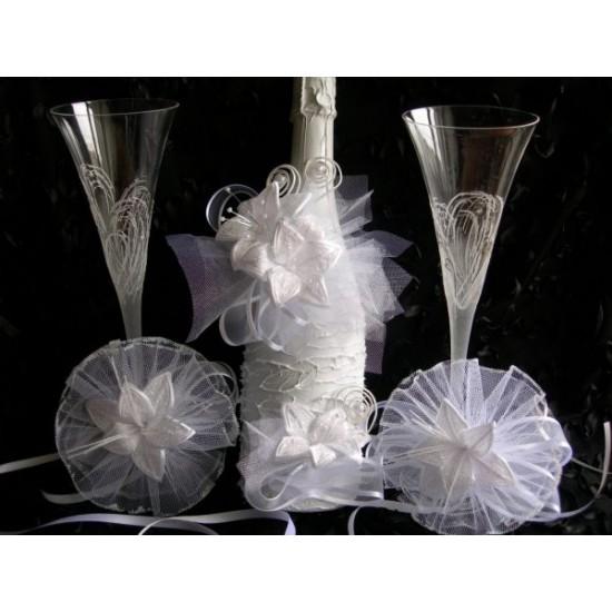 Шампанско и украса за чаши Лилиум