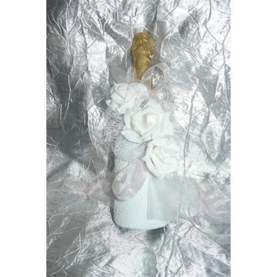 Шампанско с украса Рози 02
