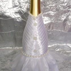 Шампанско с украса Булка 01