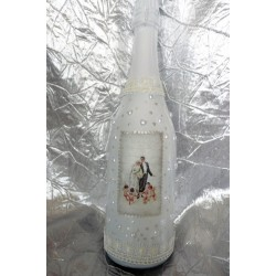 Шампанско с украса Младоженци-01
