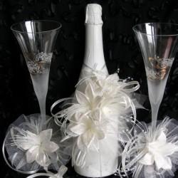 Шампанско и украса за чаши Лилиум-1