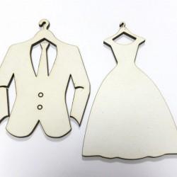 Дървени фигури Младоженци