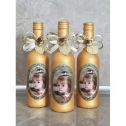 Подарък за гости за кръщене, Мини вино със снимка