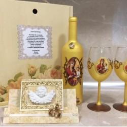 Подарък за кръстници, Комплект в златно