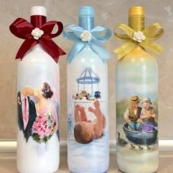 Комплект бутилки за наричане, Подарък за сватба.
