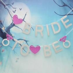 Банер, надпис за моминско парти,  Bride to be
