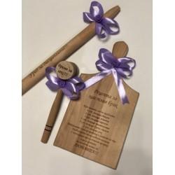 Подарък за моминско парти, Комплект дъска, точилка и дървено чукче