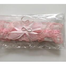 Сватбен жартиер в розово