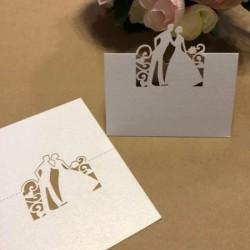 Табелка за маса, тейбъл картичка младоженци