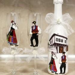 Сватбен ритуален комплект с народни мотиви