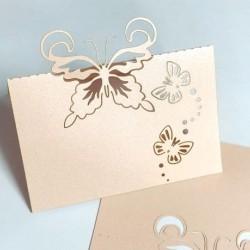 Табелка за маса, тейбъл картичка пеперуди