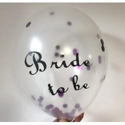 Прозрачни балони с конфети Bride to be