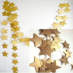 Гирлянд звезди 4 метра злато