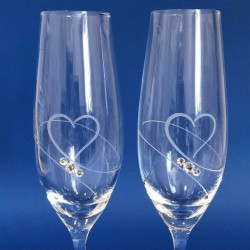 Кристални ритуални чаши А, кристали Сваровски
