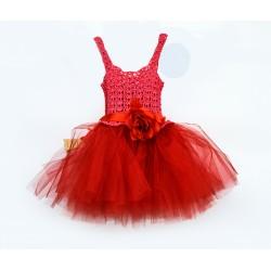 Детска червена рокля РОЗА