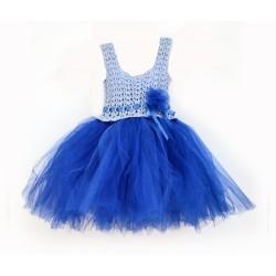 Детска синя рокля РОЗА