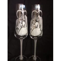 """Ритуални чаши """"Младоженци двойка"""""""