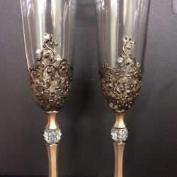 "Ритуални чаши ""Ретро златни орнаменти"""